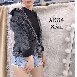 Áo khoác xám AK34
