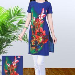 áo dài cách tân hoa loa kèn giá sỉ
