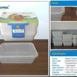 Hộp đựng thực phẩm nhựa mỏng giá sỉ