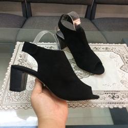 Giày sandal boot hậu dán gót trụ 5p giá sỉ