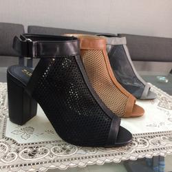 Giày sandal boot lưới dán gót trụ 7p giá sỉ