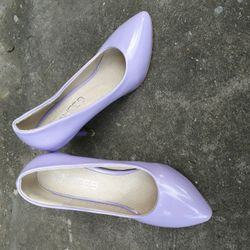 Giày cao gót nữ màu tím nhạt giá sỉ