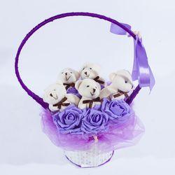 Giỏ xách hoa gấu giá sỉ