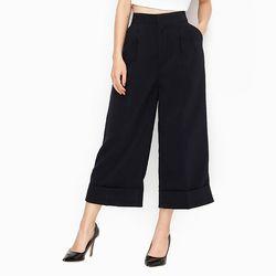 Quần thời trang ống rộng culottes màu xanh đen giá sỉ