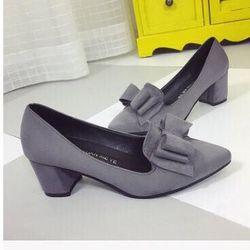 giày búp bê nở 3 tầng gót vuông 5p giá sỉ