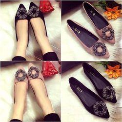 giày búp bê khóa vòng hoa giá sỉ