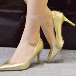 giày búp bê cao gót đồng nhọn 7p sỉ giá sỉ