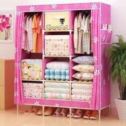 Tủ quần áo 3 buồng 8 ngăn khung gỗ giá sỉ
