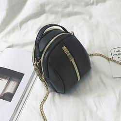 Túi đeo chéo nữ mini dây kéo giữa - ms 17402