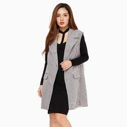 Áo ghile vest dáng dài họa tiết trẻ trung duyên dáng giá sỉ