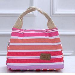 Túi đựng hợp cơm phối sọc sắc màu giữ nhiệt tiện lợi đem đi văn phòng giá sỉ