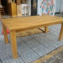 bàn ăn gỗ sồi loại 1m8 EUF 036 KT 180x90x78 giá sỉ