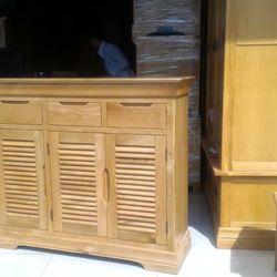 Tủ giày dép gỗ sồi 3 cánh 3 hộc 1m2 x 1m