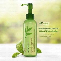Dầu tẩy trang chiết trà xanhInnisfree Green Tea Balancing Cleansing Oil hãng Korea giá sỉ