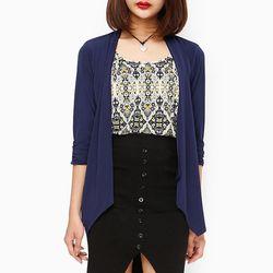 Áo kiểu thời trang nữ giả set màu xanh đen