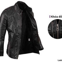Áo khoac da lót lông 2 dây kéo - LADOS - 123 giá sỉ, giá bán buôn