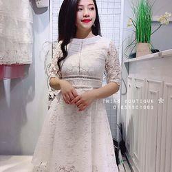 Đầm ren xoè
