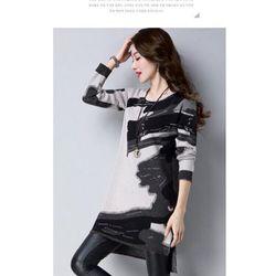 Áo len dạng đầm họa tiết sang trọng giá sỉ