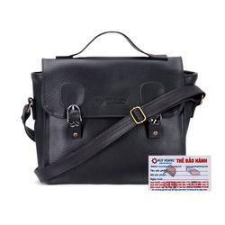 Túi xách hộp vuông Huy Hoàng màu bò đen HR6135 giá sỉ