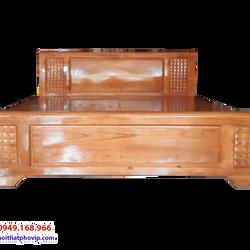 Giường ngủ gỗ Xoan 1m6 x 2m kiểu trám vạt phản