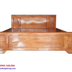 Giường ngủ gỗ Xoan 1m8 x 2m kiểu trám vạt phản