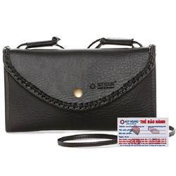 Túi xách Huy Hoàng đan viền màu đen HR6171 giá sỉ