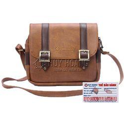 Túi xách phối viền Huy Hoàng 2 khóa màu bò nhạt HR6161 giá sỉ