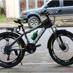 xe đạp địa hình FST N206 màu xanh chuối giá sỉ