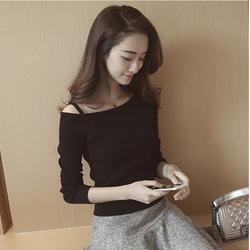 Áo len trễ vai dây kiểu dáng Hàn Quốc
