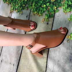 Giày sandal giả boot gót gỗ 5cm giá sỉ