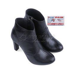 Giày boot nữ Huy hoàng da bò màu đen HR7036 giá sỉ