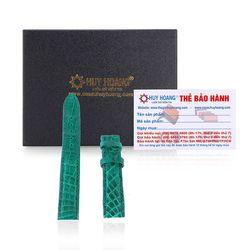 Dây đồng hồ Huy Hoàng da cá sấu màu xanh lá HR8264