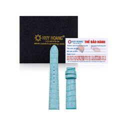 Dây đồng hồ Huy Hoàng da cá sấu màu xanh ngọc HR8248