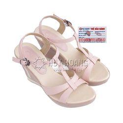 Giày nữ Huy Hoàng đế xuồng màu kem hồng HR7032 giá sỉ