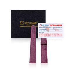 Dây đồng hồ Huy Hoàng da đà điểu màu tím HR8408