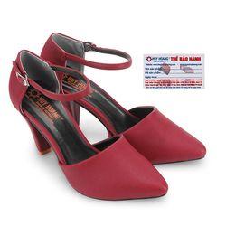 Giày nữ Huy Hoàng cột dây màu đỏ HR7091
