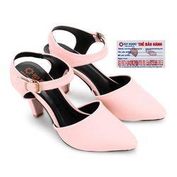 Giày nữ Huy Hoàng cột dây hở gót màu hồng HR7095