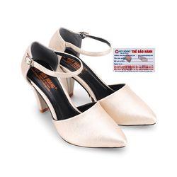 Giày nữ Huy Hoàng cột dây màu kem HR7092