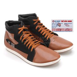 Giày nam Huy Hoàng cổ cao màu da phối đen HR7753 giá sỉ