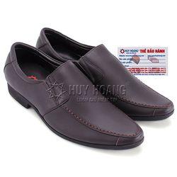 Giày tây nam Huy Hoàng viền chỉ màu nâu HR7705