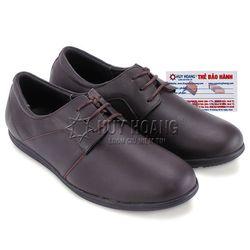 Giày nam Huy Hoàng thời trang cột dây màu nâu HR7712