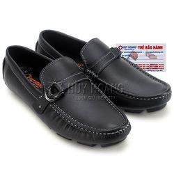 Giày mọi nam Huy Hoàng đế âm đính móc màu đen HR7770