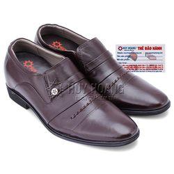 Giày tăng chiều cao Huy Hoàng màu nâu HR7177 giá sỉ