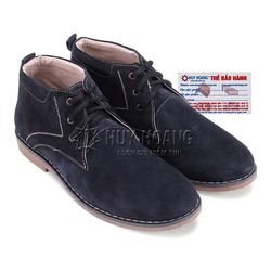 Giày boot nam Huy Hoàng da lộn màu xanh đậm HR7192