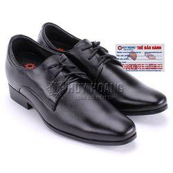 Giày nam tăng chiều cao Huy Hoàng cột dây màu đen HR7714 giá sỉ