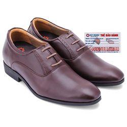 Giày tăng chiều cao Huy Hoàng màu nâu HR7178 giá sỉ