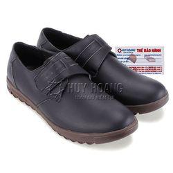 Giày nam Huy Hoàng thời trang màu đen HR7713