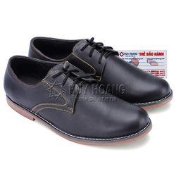 giày nam thời trang huy hoàng màu đen HR7160