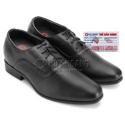 Giày nam tăng chiều cao Huy Hoàng cột dây màu đen HR7723 giá sỉ
