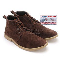 Giày nam Huy Hoàng cổ cao trơn màu nâu HR7760 giá sỉ